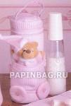 """Сумка-чехол для бутылочки  """"Мишка """" (розовый)"""
