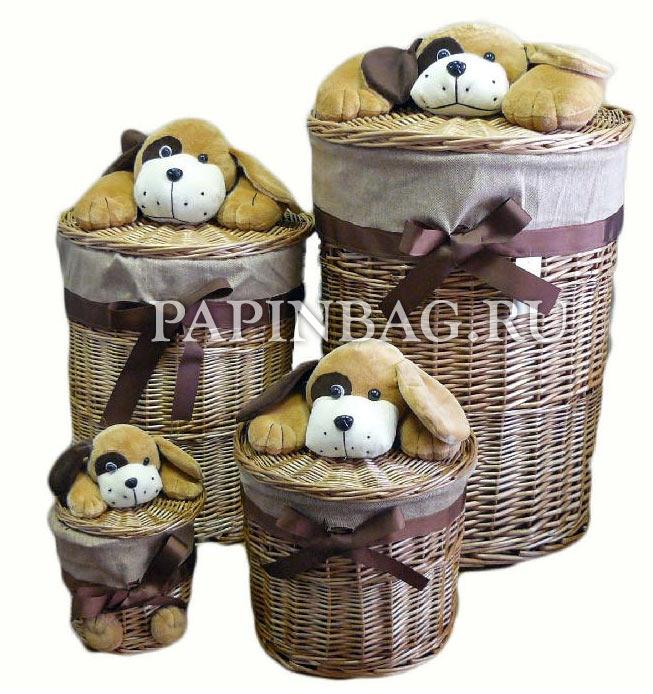 Корзина для игрушек из корзины